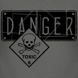 danger toxic_vec_2 en T-Shirts - Men's Slim Fit T-Shirt