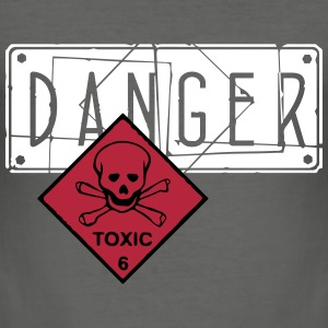 danger toxic_vec_3 en T-Shirts - Men's Slim Fit T-Shirt