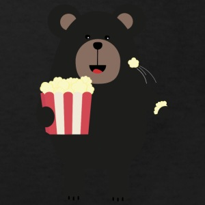 Black bear eating popcorn Shirts - Kids' Organic T-shirt