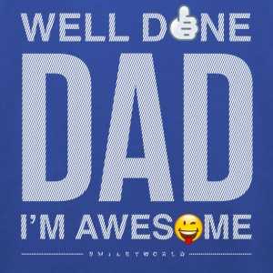 SmileyWorld Well Done Dad - Premium Barne-hettegenser