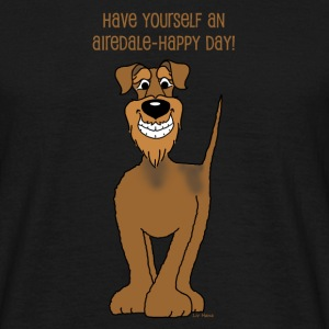 Airedale Terrier Smile - Männer T-Shirt