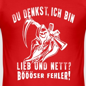 bööoser fel T-shirts - Slim Fit T-shirt herr