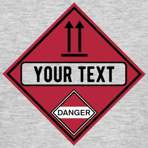 danger up free_vec_3 en T-Shirts - Men's T-Shirt