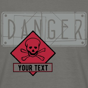danger skull empty_vec_3 en T-Shirts - Men's T-Shirt
