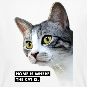HOME IS WHERE THE CAT IS. Katze - Männer Bio-T-Shirt