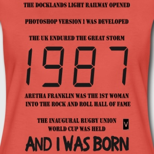 1987 30th birthday (dark print) - Women's Premium T-Shirt