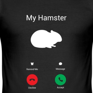 Får hamster T-skjorter - Slim Fit T-skjorte for menn