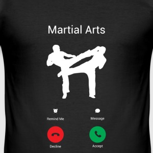 KARATE IS CALLING ME! T-shirts - slim fit T-shirt