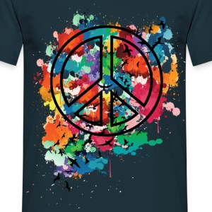 Peace & Freedom  Men's T-Shirt - Men's T-Shirt