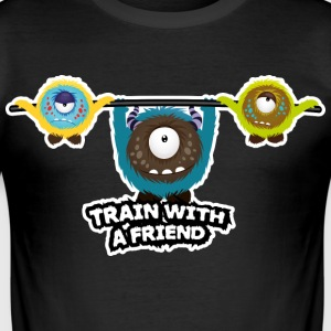 Trainen met een vriend T-shirts - slim fit T-shirt