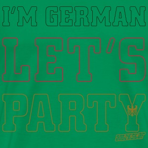 I'm German Let's Party, Amokstar ™ Tee shirts - T-shirt Premium Homme