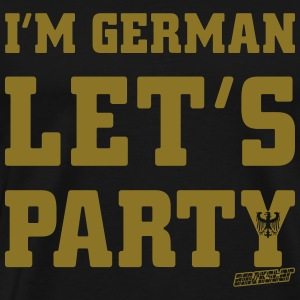 I'm German Let's Party, Amokstar ™ T-shirts - Premium-T-shirt herr