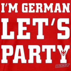 I'm German Let's Party, Amokstar ™ T-shirts - Herre premium T-shirt