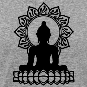 Buddha Meditation, Yoga, Lotus, Om, Buddhism T-Shi - Men's Premium T-Shirt