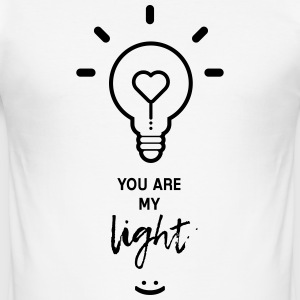 you are my light T-Shirts - Men's Slim Fit T-Shirt