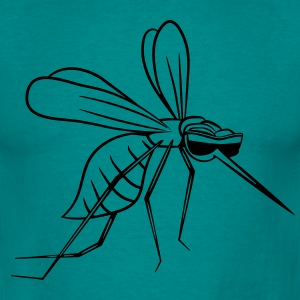Mosquito mordre comique lunettes fun Tee shirts - T-shirt Homme