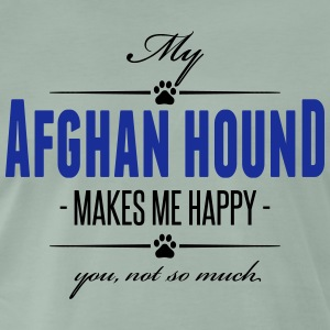 My Afghan Hound makes me happy - Männer Premium T-Shirt