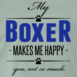 My Boxer makes me happy - Männer Premium T-Shirt
