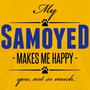My Samoyed makes me happy - Männer Premium T-Shirt