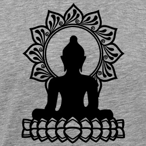 Buddha Meditation, Yoga, Lotus, Om, Buddhism T-Shirts - Men's Premium T-Shirt