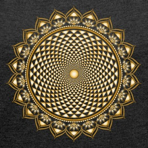 Lotus Chakra, Yoga, Buddhism, Meditation, Om T-Shirts - Women's T-shirt with rolled up sleeves
