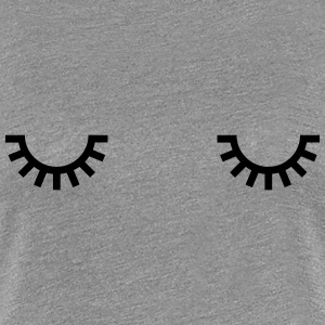 Sleepy eyes, monday morning, ögon måndag morgon, T-shirts - Premium-T-shirt dam
