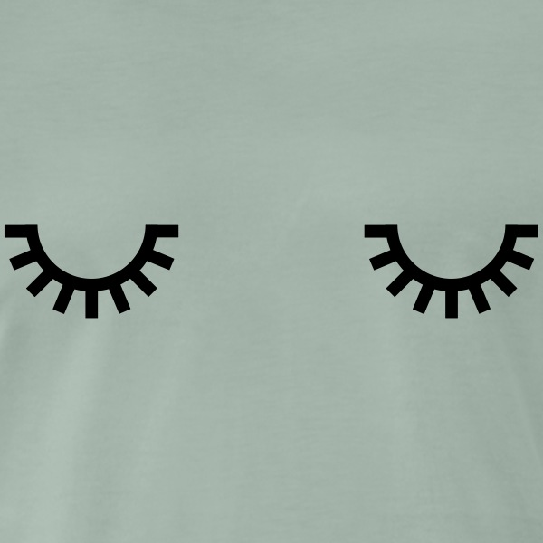 Sleepy eyes, monday morning, ögon måndag morgon, T-shirts - Premium-T-shirt herr