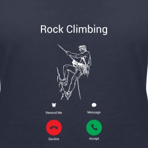 CLIMBING CALLS! T-Shirts - Women's V-Neck T-Shirt