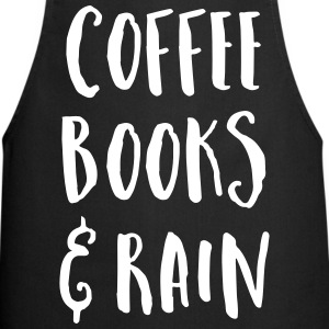 Coffee, Books & Rain Quote  Aprons - Cooking Apron