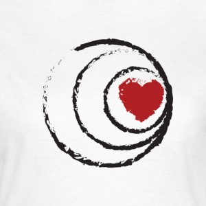 Heart with 3 Circles - Women's T-Shirt