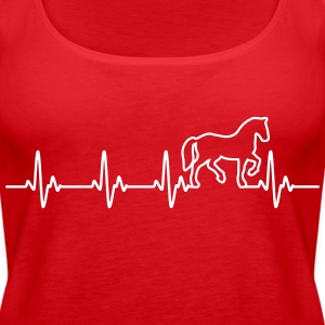 Horse Heartbeat Tops - Women's Premium Tank Top