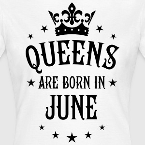 Queens are born in June Crown Queen Star T-Shirt  - Frauen T-Shirt