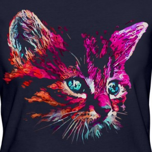 cat pink paint T-shirts - Vrouwen Bio-T-shirt
