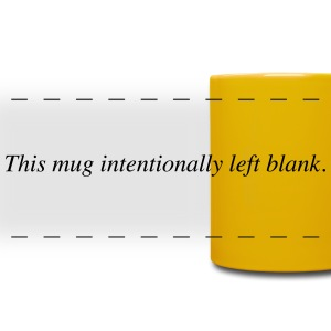mug intentionally blank Mugs & Drinkware - Full Color Panoramic Mug