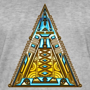 Pyramide, triangle, fusée, vaisseau spatial, cool, Tee shirts - T-shirt vintage Homme
