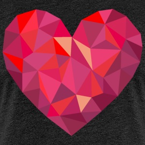 Valentine's Day Geometric Low Poly Heart - Women's Premium T-Shirt