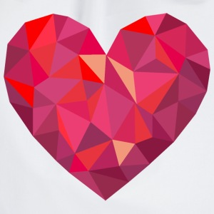 Valentine's Day Geometric Low Poly Heart - Sacca sportiva