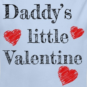 Saint-Valentin Papa Daddy's Little Valentine - Body bébé bio manches longues