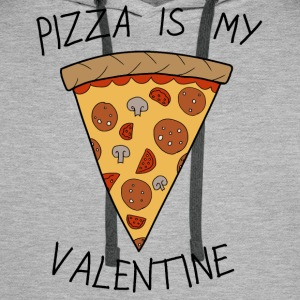 Valentine's Day Pizza Is My Valentine Humour - Mannen Premium hoodie
