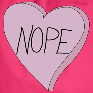 Valentine's Day Nope Heart Single Humour - Sacca sportiva