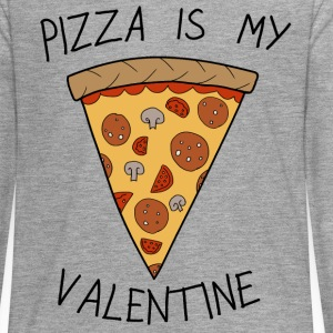 Valentine's Day Pizza Is My Valentine Humour - Teenagers' Premium Longsleeve Shirt