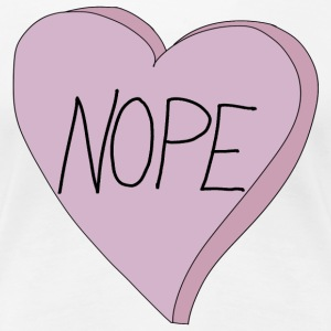 Valentine's Day Nope Heart Single Humour - Premium-T-shirt dam