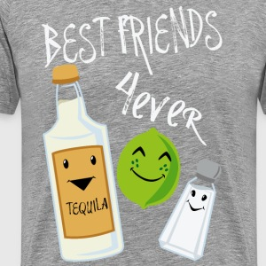 Best Friends Forever Tequila Lime Salt Humour - Premium-T-shirt herr