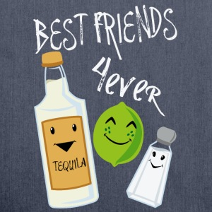 Best Friends Forever Tequila Lime Salt Humour - Shoulder Bag made from recycled material