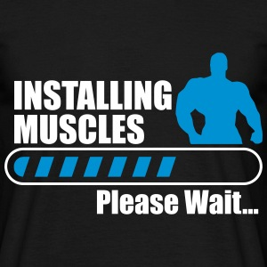 Installing muscles - Funny gym t-shirt - Men's T-Shirt
