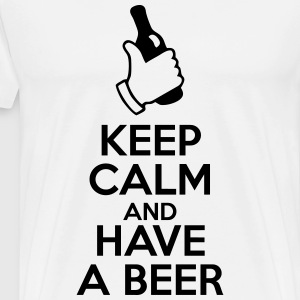 Keep calm and have a beer - bier  - Männer Premium T-Shirt