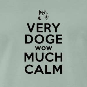 Keep Doge wow Much Calm Meme - Men's Premium T-Shirt