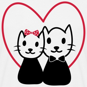 Cat in love - Valentine's Day Gifts - Men's T-Shirt