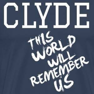Valentine's Day Matching Couples Clyde Slogan - Premium-T-shirt herr