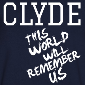 Valentine's Day Matching Couples Clyde Slogan - Men's V-Neck T-Shirt